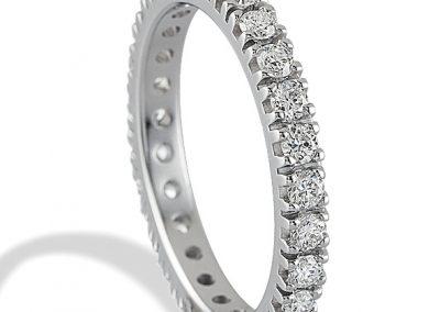 Fedine in oro bianco 18Kt e diamanti – a partire da €250